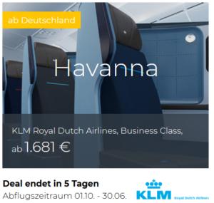 KLM Business Class Deals