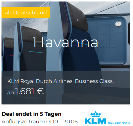 KLM Business Class Deals