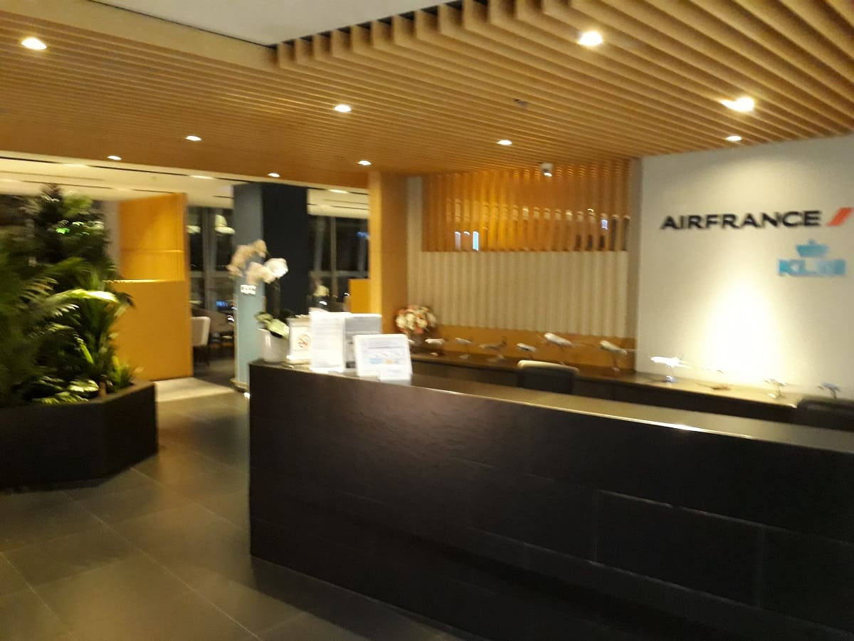 Air France/KLM Sky Lounge Bangkok Eingang