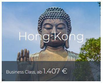 Business Class Deals Hongkong