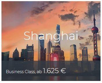 Business Class Deals Shanghai