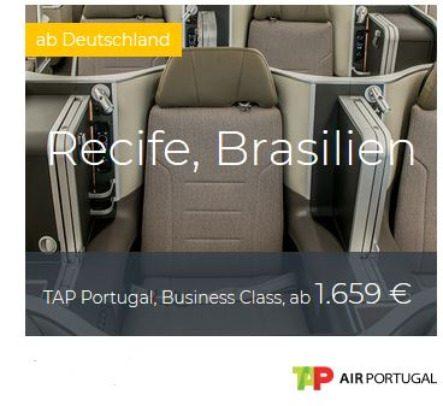 TAP Business Class Deals