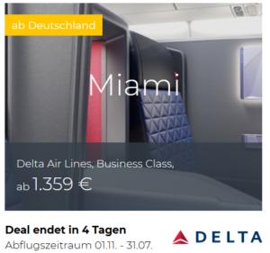 Delta Business Class Deals