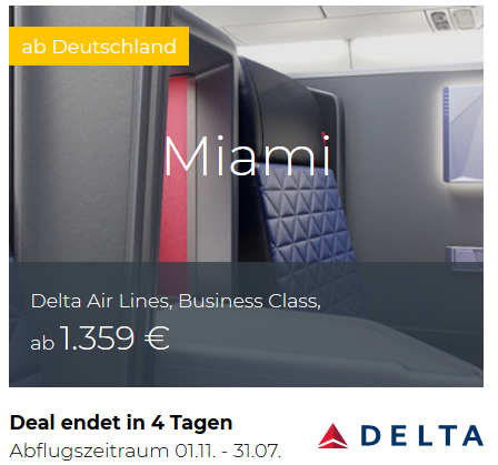 Delta Business Class Deals