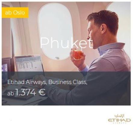 Etihad Business Class Deals