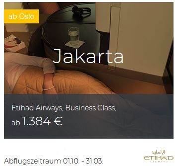 Etihad Business Class Deals