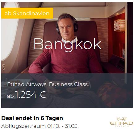 Etihad Business Class Bangkok