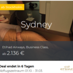 Etihad Business Class Angebote