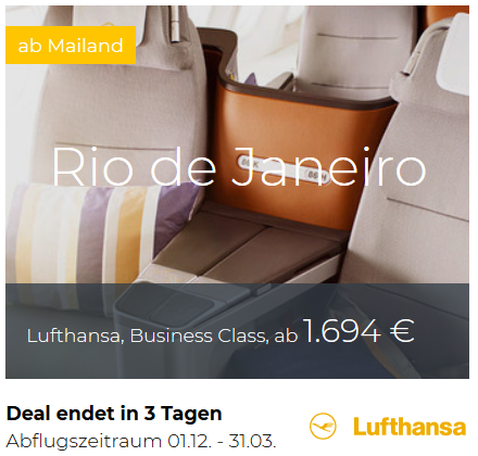 Lufthansa Business- und First Class Deals