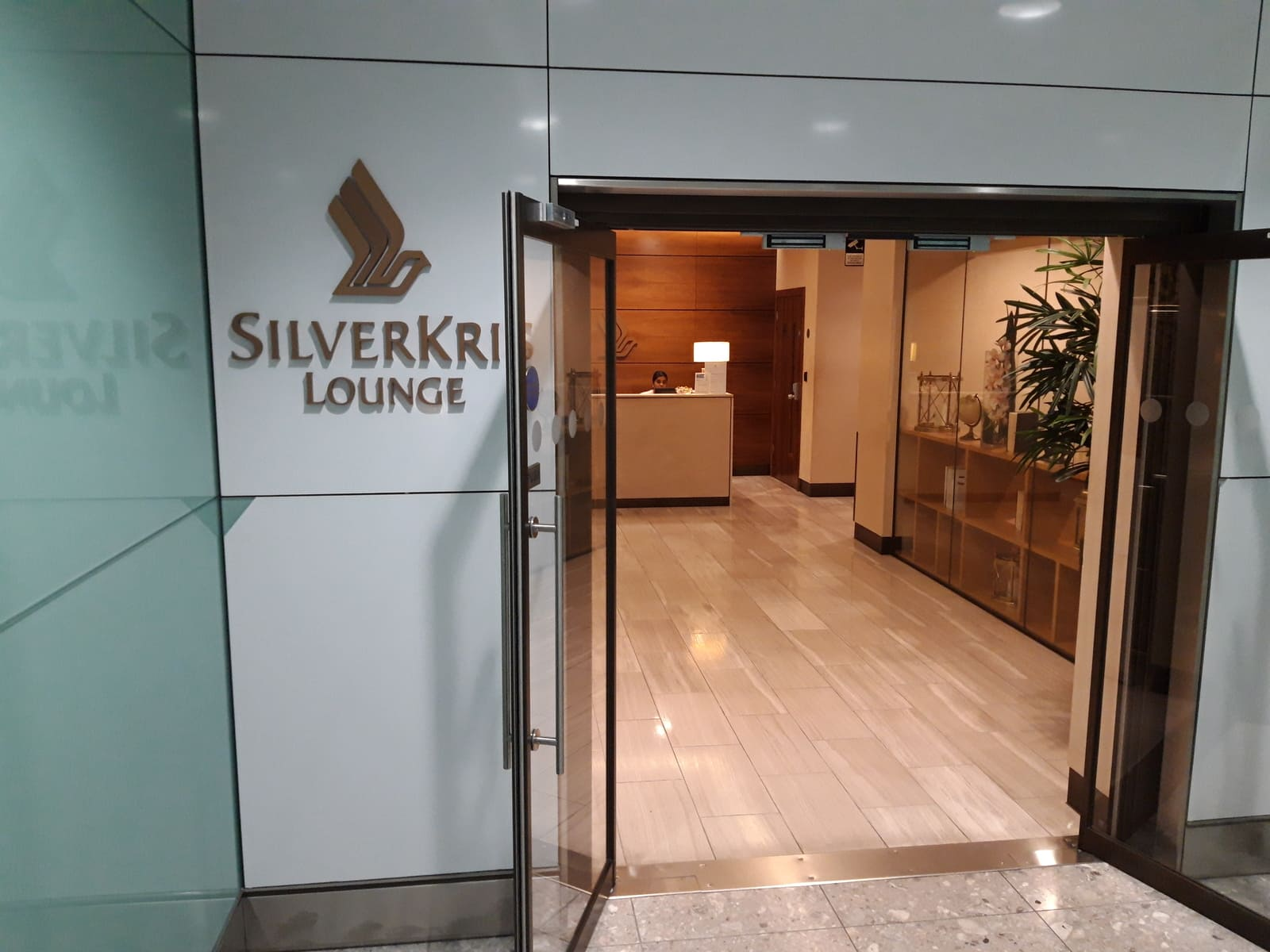 Silverkris Lounge London Heathrow Eingang