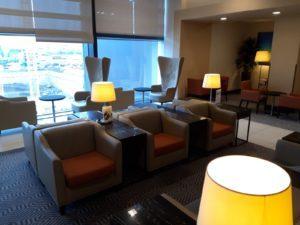 Silverkris Lounge London Heathrow Mobiliar