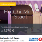 Aktuelle Business- Class Deals Lufthansa, Singapore, KLM, Turkish