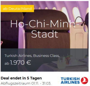 Turkish Airlines Business Class Deals
