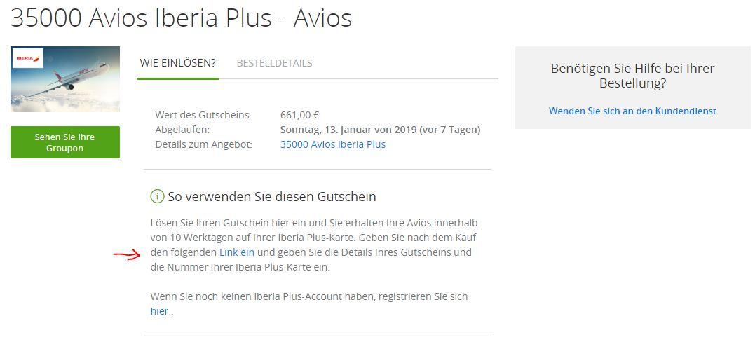 Groupon Code Avios kaufen