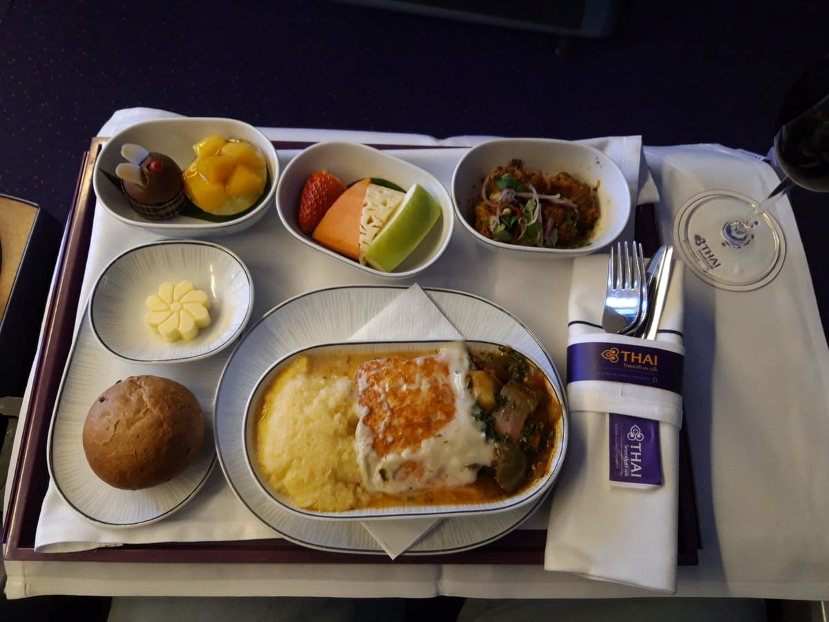 THAI Business Class Catering
