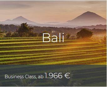 Business Class Deals Bali