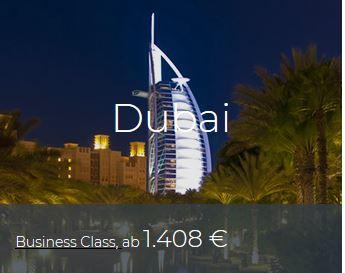 Business Class Deals Dubai