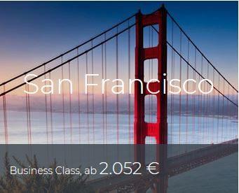 Business Class Deals San Francisco