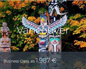 Business Class Deals Vancouver