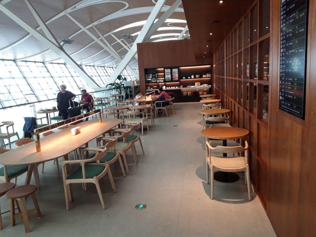 Cathay Pacific Lounge Shanghai Außenbereich