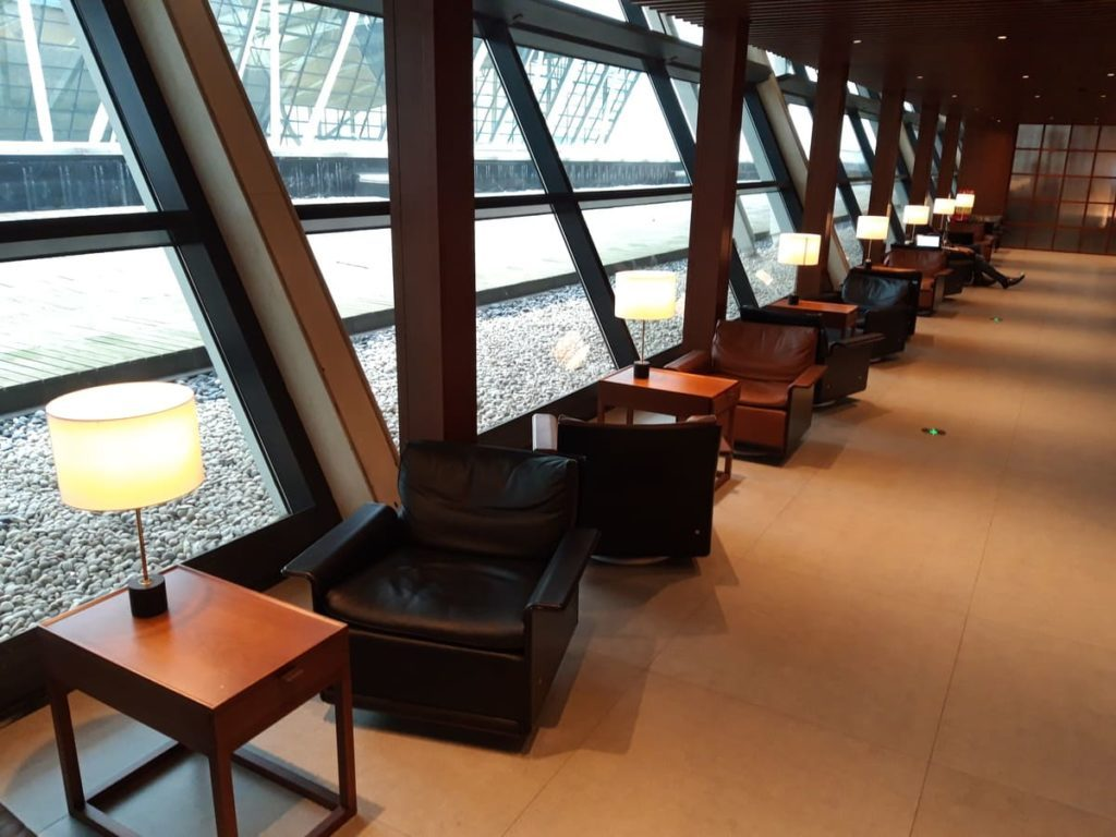 Cathay Pacific Lounge Shanghai Fensterfront