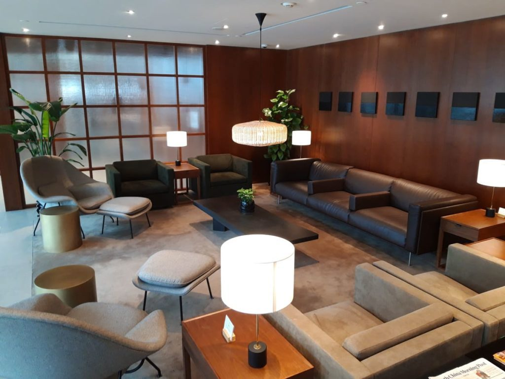 Cathay Pacific Lounge Shanghai Loungebereich