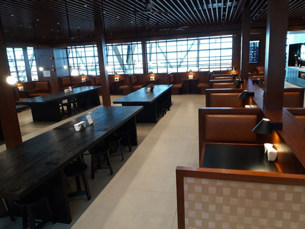Cathay Pacific Lounge Shanghai Speisebereich
