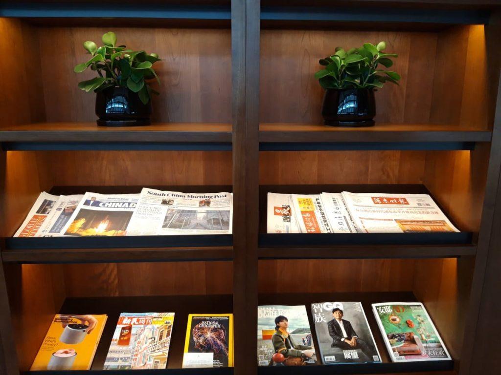 Cathay Pacific Lounge Shanghai Zeitschriften
