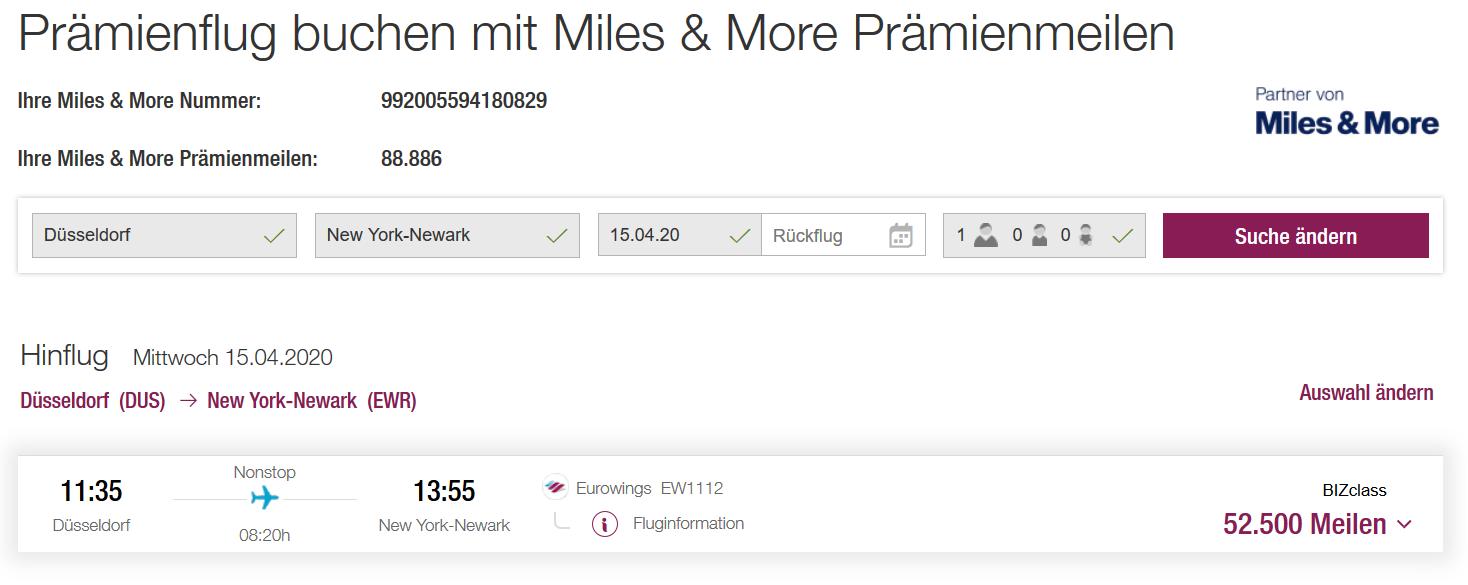 Miles & More Sweetspots: Prämienflüge mit Eurowings