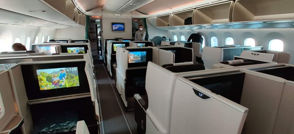 Oman Air Business Class Kabine