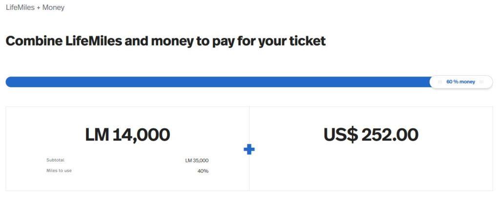 Avianca LifeMiles + Money, 60% Meilen zum Prämienflug hinzukaufen