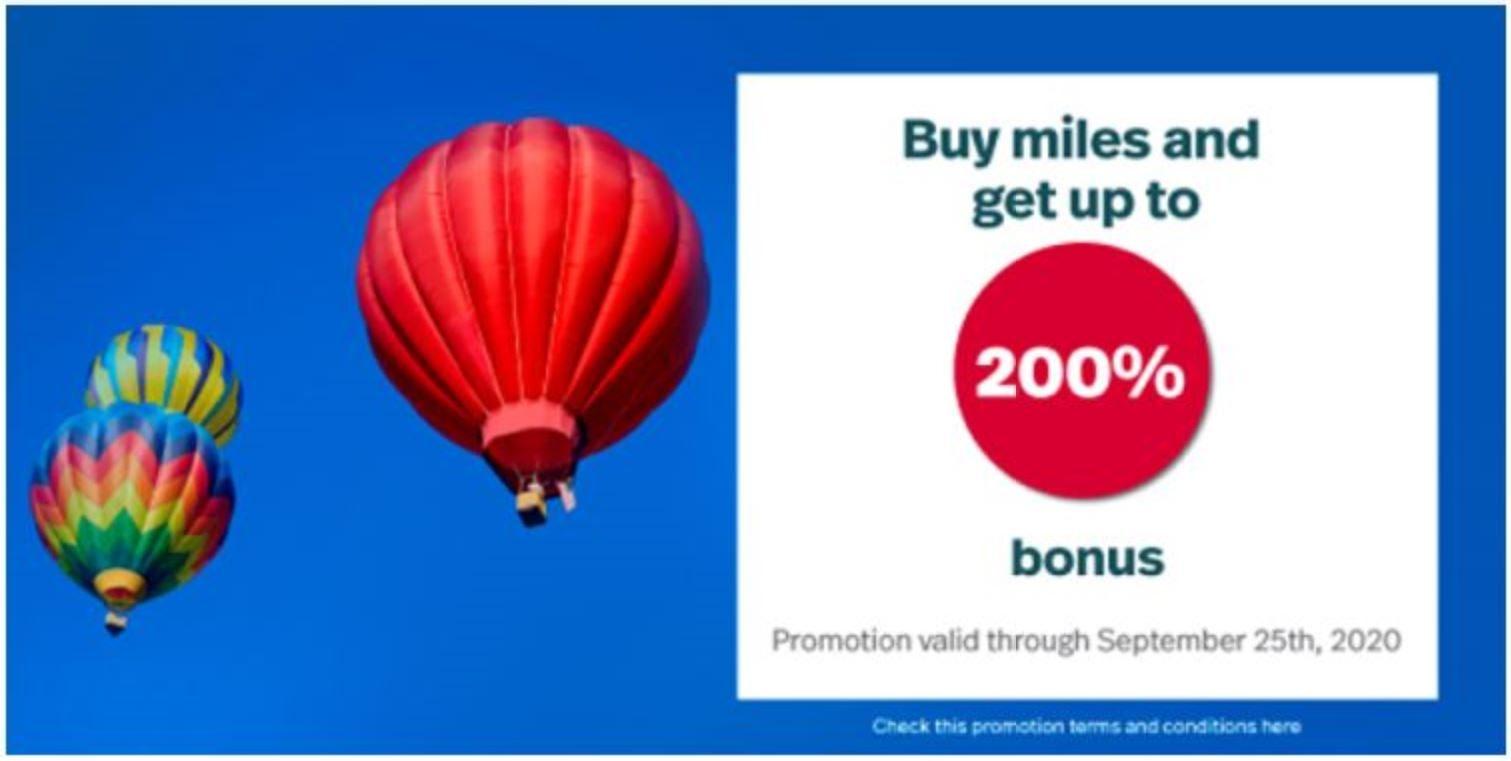 LifeMiles kaufen mit 200% Bonus