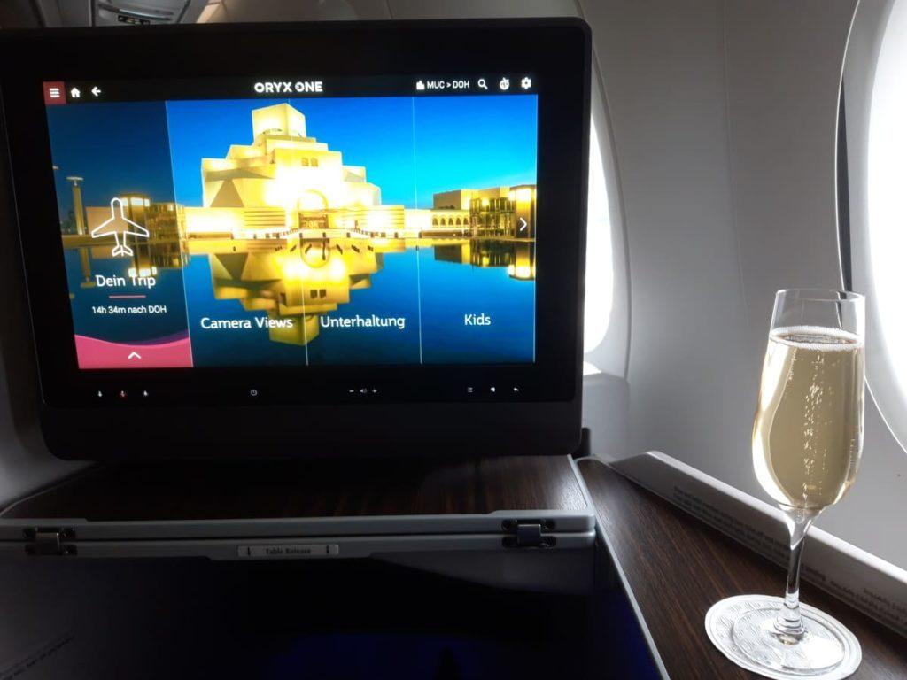 Qatar Airways Business Class Entertainment