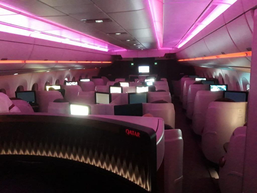 Qatar Airways Business Class Kabine