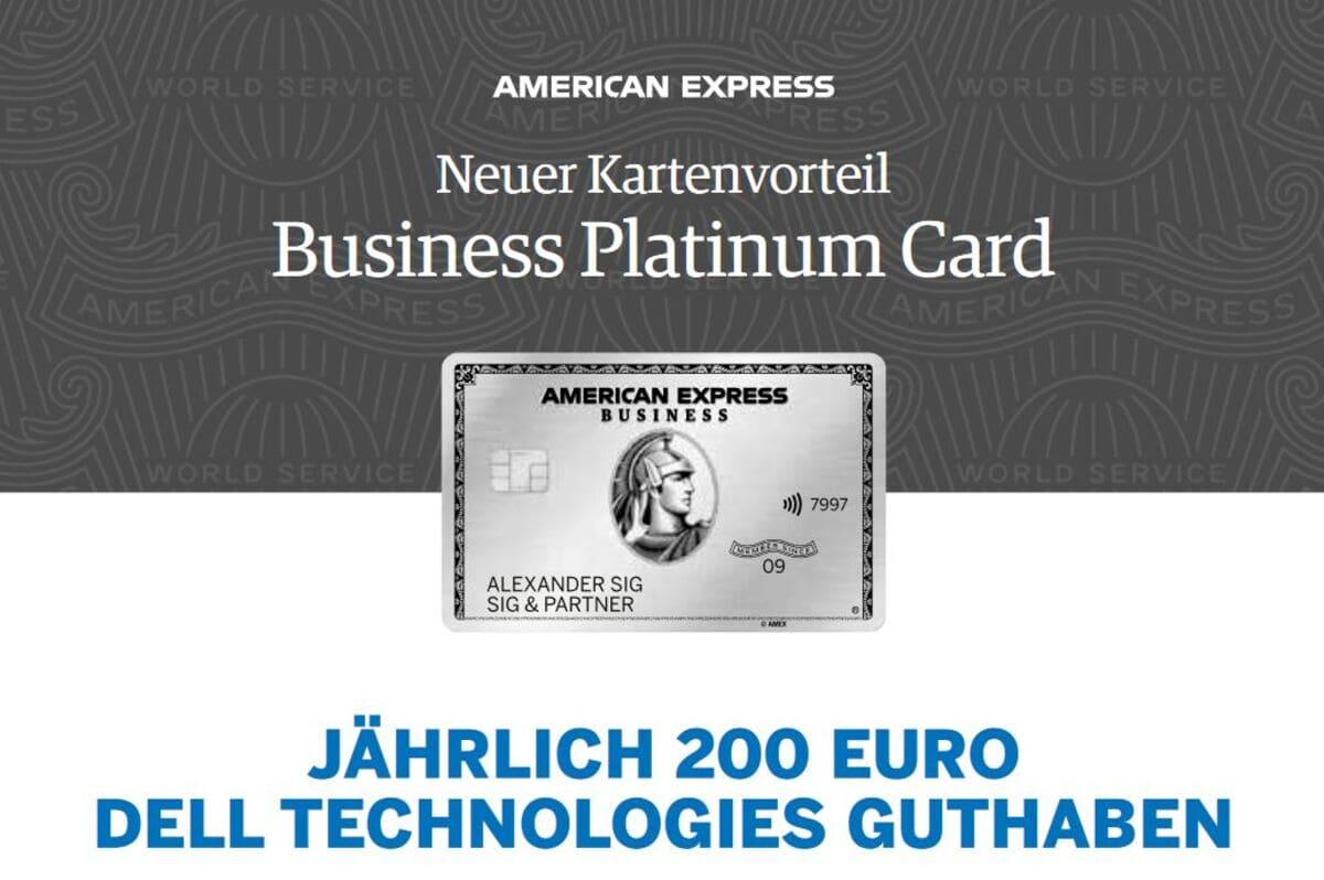American Express Business Kreditkarte Technologieguthaben