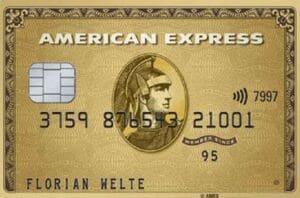 American Express Gold Card mit 40.000 Bonuspunkten